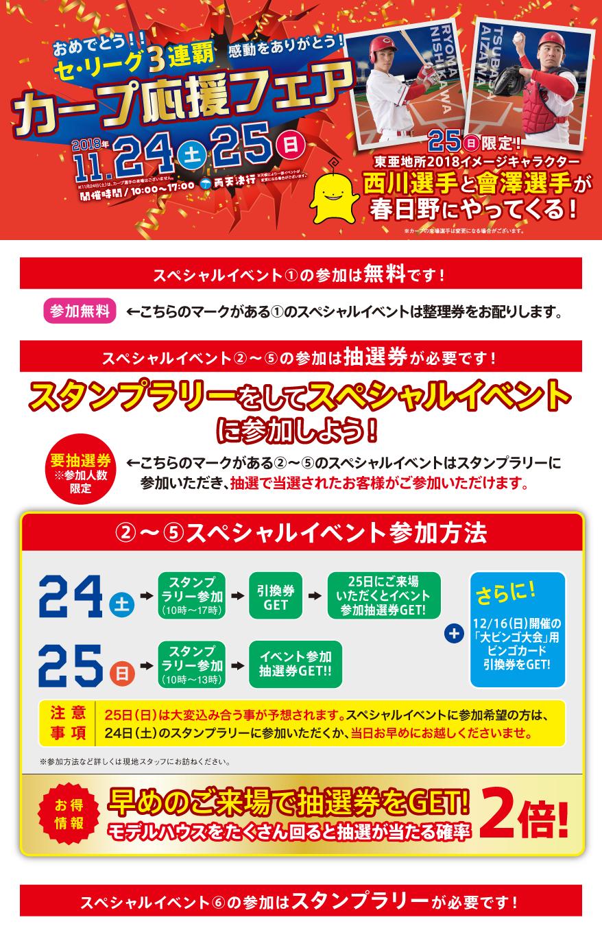 ぽるぽる住宅展示場2018 カープ応援フェア