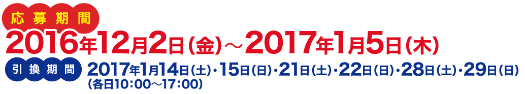 応募期間:2016年12月2日(金)~2017年1月5日(木)